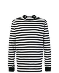 Jersey con cuello circular de rayas horizontales en negro y blanco de Golden Goose Deluxe Brand