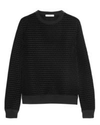 Jersey con cuello circular de terciopelo estampado negro de Givenchy