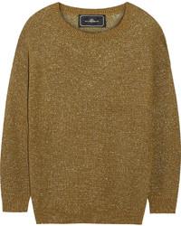 Jersey con cuello circular dorado de By Malene Birger