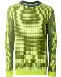Jersey con cuello circular en amarillo verdoso de Kenzo