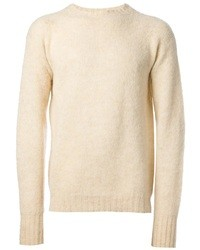 Jersey con cuello circular en beige