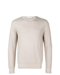 Jersey con cuello circular en beige de Cruciani