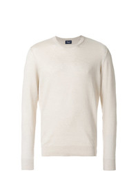 Jersey con cuello circular en beige de Drumohr