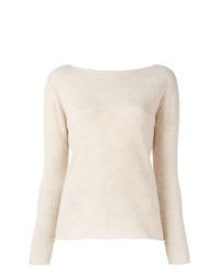 Jersey con cuello circular en beige de Fashion Clinic Timeless