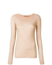 Jersey con cuello circular en beige de Humanoid