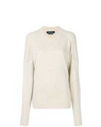 Jersey con cuello circular en beige de Isabel Marant