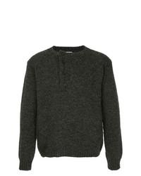 Jersey con cuello circular en gris oscuro de Bergfabel