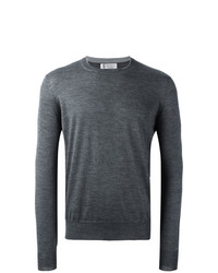 Jersey con cuello circular en gris oscuro de Brunello Cucinelli