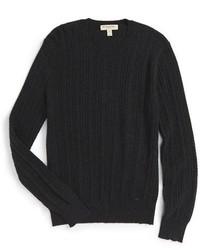 Jersey con cuello circular en gris oscuro de Burberry