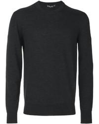 Jersey con cuello circular en gris oscuro de Dolce & Gabbana