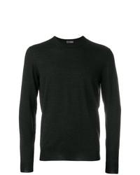 Jersey con cuello circular en gris oscuro de Drumohr