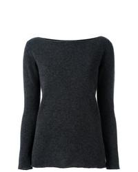 Jersey con cuello circular en gris oscuro de Fashion Clinic Timeless