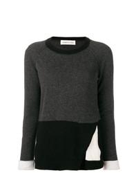 Jersey con cuello circular en gris oscuro de Lamberto Losani