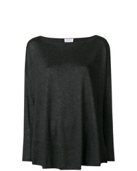 Jersey con cuello circular en gris oscuro de Snobby Sheep