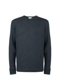 Jersey con cuello circular en gris oscuro de Sunspel