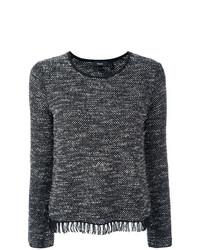 Jersey con cuello circular en gris oscuro de Theory