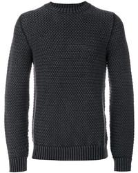 Jersey con cuello circular en gris oscuro de Tod's