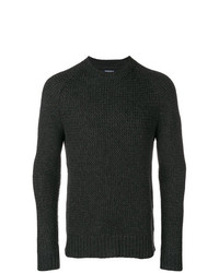 Jersey con cuello circular en gris oscuro de Woolrich