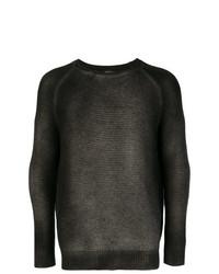 Jersey con cuello circular en marrón oscuro de Avant Toi