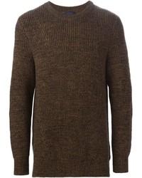 Jersey con cuello circular en marrón oscuro de Lanvin