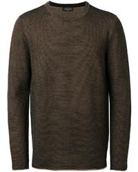 Jersey con cuello circular en marrón oscuro de Roberto Collina