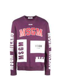 Jersey con cuello circular en multicolor de MSGM