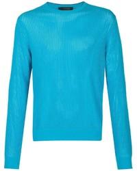 Jersey con cuello circular en turquesa de Calvin Klein Collection
