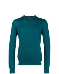 Jersey con cuello circular en verde azulado de Barba