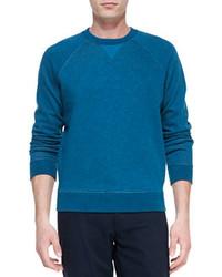 Jersey con cuello circular en verde azulado de Vince