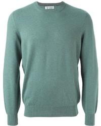 Jersey con cuello circular en verde menta