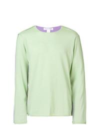 Jersey con cuello circular en verde menta de Comme Des Garcons SHIRT