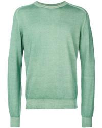 Jersey con cuello circular en verde menta de Etro