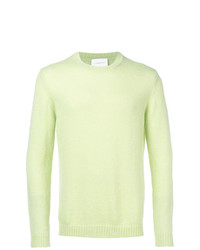 Jersey con cuello circular en verde menta de Low Brand