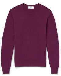 Jersey con cuello circular en violeta de Ami