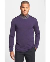 Jersey con cuello circular en violeta de John Varvatos