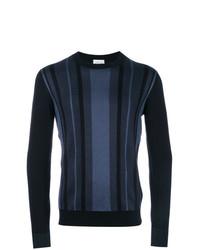 Jersey con cuello circular estampado azul marino de Brioni
