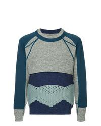Jersey con cuello circular estampado azul marino de Craig Green