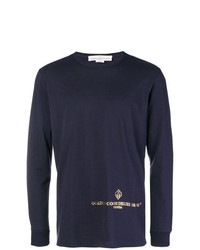 Jersey con cuello circular estampado azul marino de Golden Goose Deluxe Brand