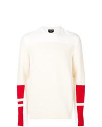 Jersey con cuello circular estampado en beige de Calvin Klein 205W39nyc
