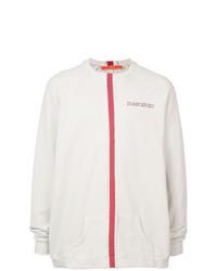 Jersey con cuello circular estampado en blanco y rojo de Komakino
