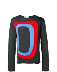 Jersey con cuello circular estampado en gris oscuro de Comme Des Garcons SHIRT