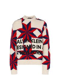Jersey con cuello circular estampado en multicolor de Calvin Klein 205W39nyc