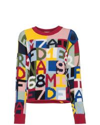 Jersey con cuello circular estampado en multicolor de Frame Denim