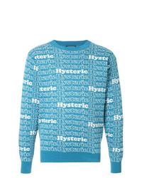 Jersey con cuello circular estampado en turquesa de Hysteric Glamour