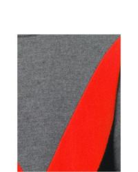 Jersey con cuello circular estampado gris de AMI Alexandre Mattiussi