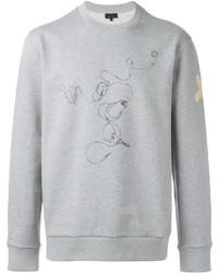 Jersey con cuello circular estampado gris de Lanvin