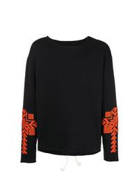Jersey con cuello circular estampado negro de Maison Margiela