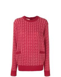 Jersey con cuello circular estampado rojo de Marni