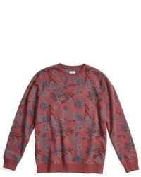 Jersey con cuello circular estampado rojo de Vans