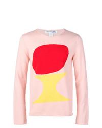 Jersey con cuello circular estampado rosado de Comme Des Garçons Shirt Boys